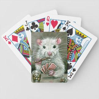Rat card cigar booze drink bicycle poker cards