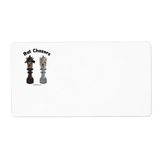 Rat Chasers Chess Dogs Shipping Label
