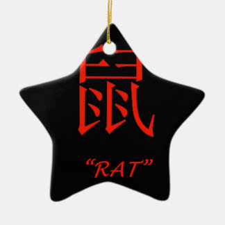 """Rat"" Chinese astrology sign Christmas Ornament"