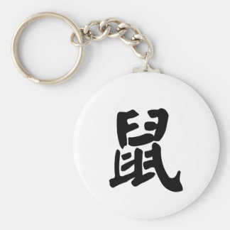 Rat Chinese Zodiac Sign Basic Round Button Key Ring