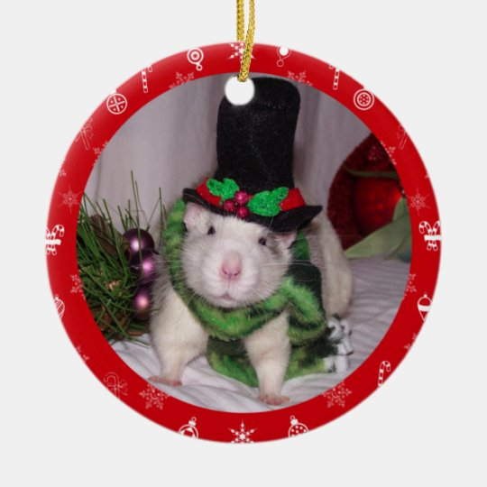 Rat Christmas Ornament