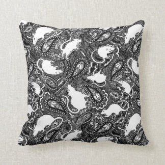 Rat cushion (small) with paisley pattern