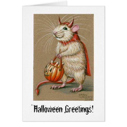 Rat Devil, Halloween Greetings! Card