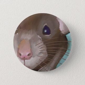 Rat face 6 cm round badge