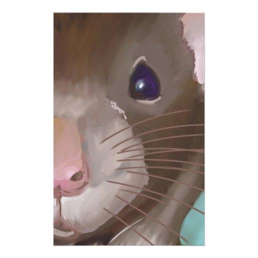 Rat face customized stationery