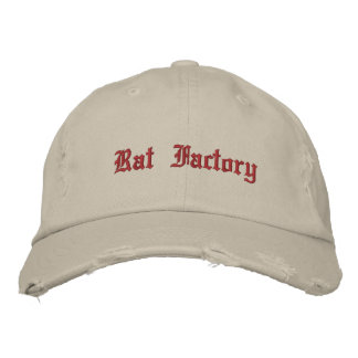 Rat Factory Embroidered Hat