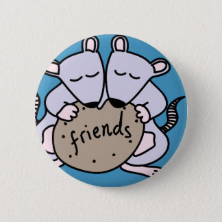 Rat friends 6 cm round badge