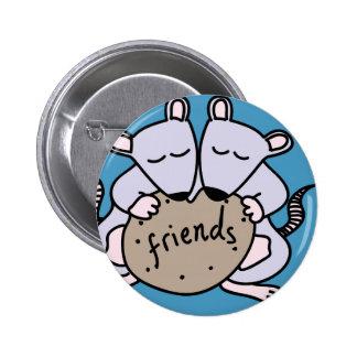 Rat friends 6 cm round badge