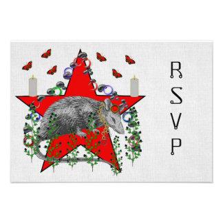 Rat God Personalized Invites