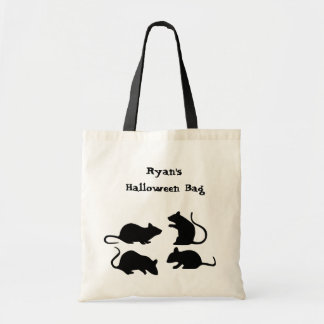 Rat Halloween Trick or Treat Tote Personalized
