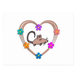 Rat Heart Postcard