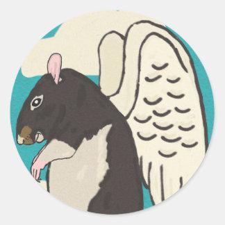 Rat heaven classic round sticker