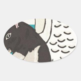 Rat heaven oval sticker