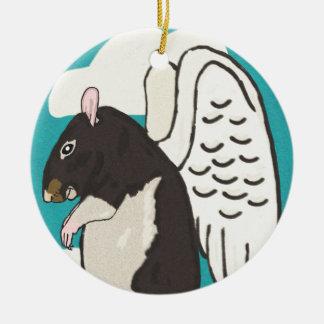 Rat heaven round ceramic decoration