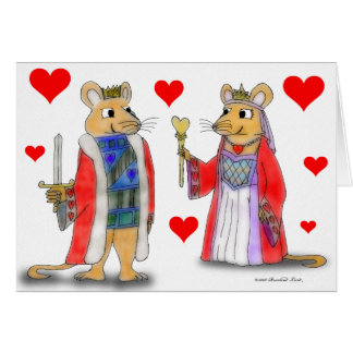 Rat King and Queen of Hearts Card