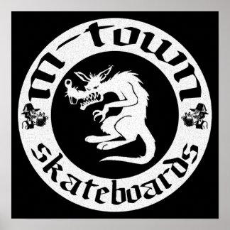 rat logo poster