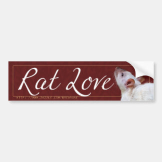 Rat Love 2 Bumper Sticker