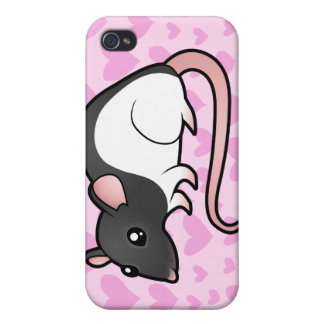 Rat Love (add your own background!) iPhone 4/4S Cover