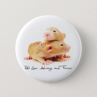 Rat Lover Always and Forever 6 Cm Round Badge