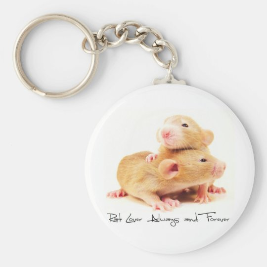 Rat Lover Always and Forever Basic Round Button