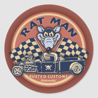 Rat Man II Round Sticker
