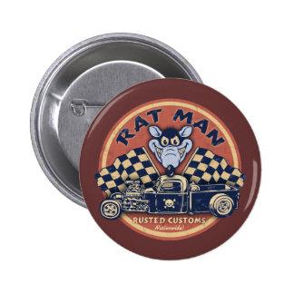 Rat Man Rusted Customs 6 Cm Round Badge