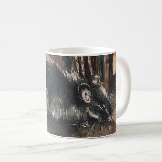 Rat oil painting mug