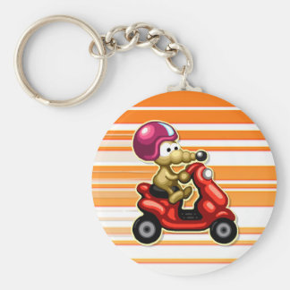 Rat on a Scooter XL Keychain
