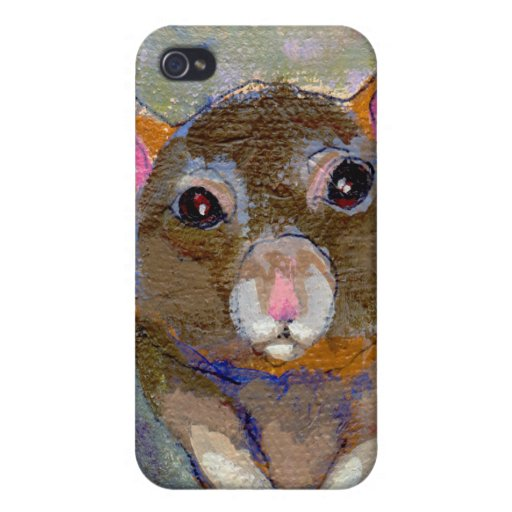 Rat painting I Have Issues fun sensitive pet art iPhone 4/4S Cases