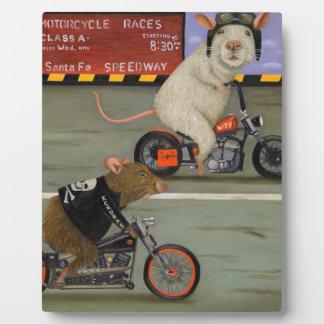 Rat Race 3 Motorcycle Race Plaque
