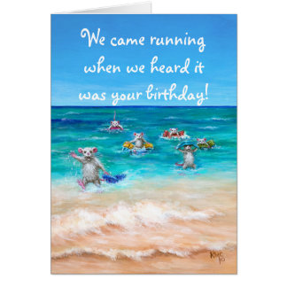 Rat Race Birthday Greeting Card