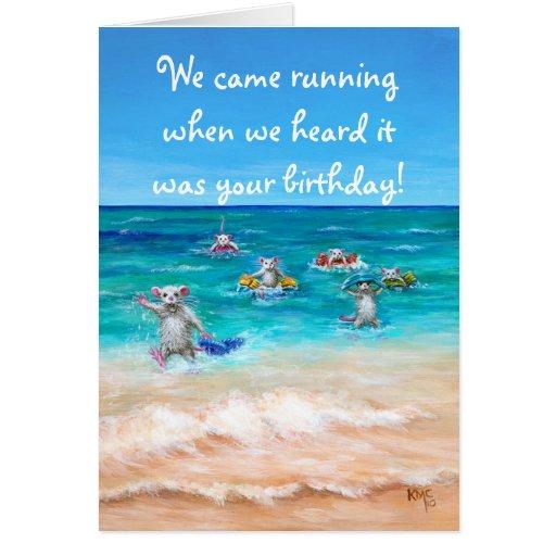 Rat Race Birthday Greeting Card