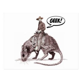 Rat Race Geek Cowboy Postcard