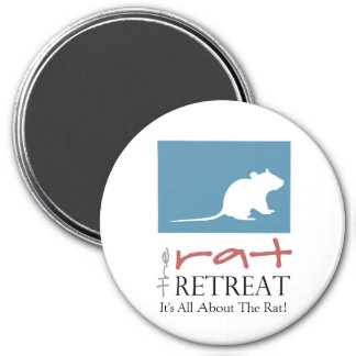 "Rat Retreat Large 3"" Round Magnet"