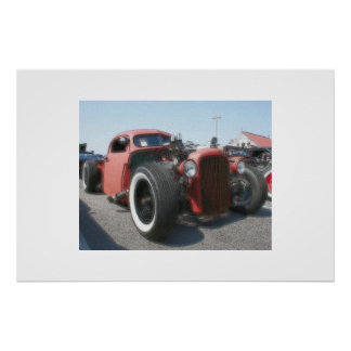 Rat Rod - Airbrush & Ink Poster