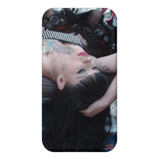 Rat Rod Bold Truck Pin Up Girl iPhone 4 Case