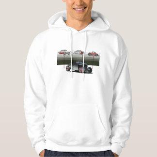 rat rod illustration hooded sweatshirts