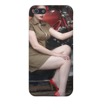 Rat Rod Military Pin Up Girl Hot Rod iPhone 5 Case