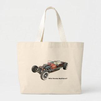 Rat Rod - No Muffler Tote Bags