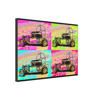Rat Rod Pop Art Canvas Print