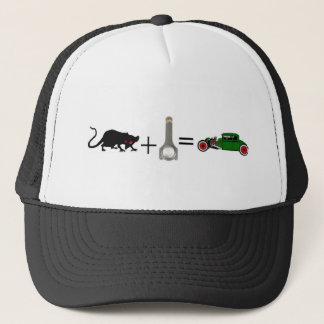 RAT+ROD=RAT ROD TRUCKER HAT