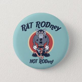 Rat Rodney 6 Cm Round Badge