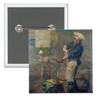 Rat Seller during the Siege of Paris, 1870 15 Cm Square Badge