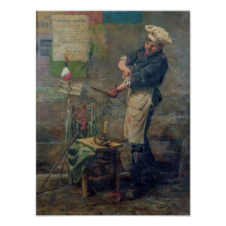 Rat Seller during the Siege of Paris, 1870 Poster