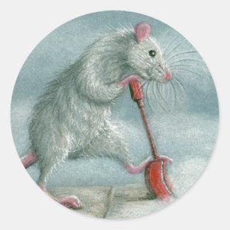 Rat shoveling snow stickers