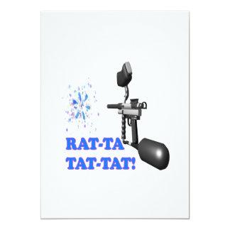 """Rat Ta Tat Tat 5"""" X 7"""" Invitation Card"""