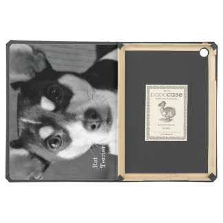 Rat Terrier, Black and White, iPad Air Cases
