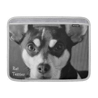 Rat Terrier, Black and White, MacBook Air Sleeve