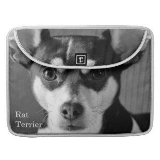 Rat Terrier Black and White MacBook Pro Sleeve