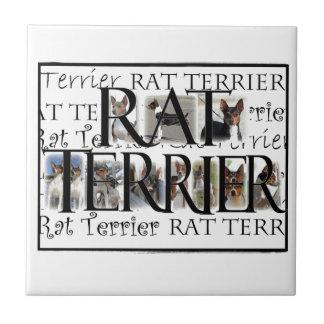 Rat Terrier Collage Tile
